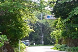 定峰峠から秩父市方向の道