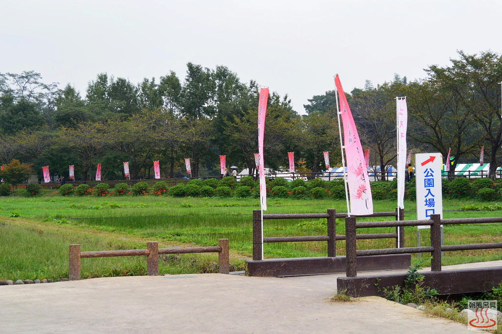 巾着田公園の入口